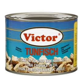 Tuna in cans – fresh catch chunks in oil, yellowfin