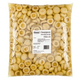 Mushrooms in PE Bags – whole first quality without stemps pasteurized