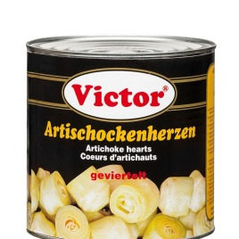 Artichoke hearts in cans – quartered