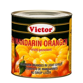 Mandarin oranges in cans – peeled in light syrup