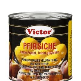 Pfirsiche in Dosen – halbe Frucht, leicht gezuckert
