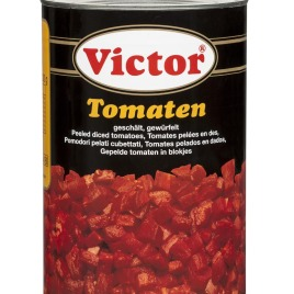 Tomatoes in cans – peeeled and diced