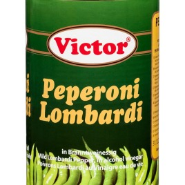 Lombardi peppers in cans – whole
