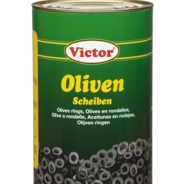 Olives in cans – sliced