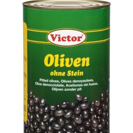 Olives in cans – pitted