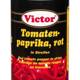 Tomatenpaprika in Dosen – rot, in Streifen