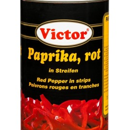 Red Peppers in cans – in stripes
