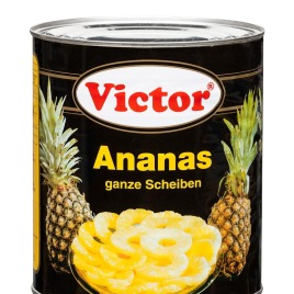 Pineapple in cans – whole slices in light syrup