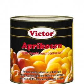 Aprikosen in Dosen, 1/2 Frucht, leicht gezuckert