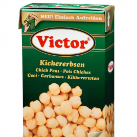 Chickpeas in tetra pack