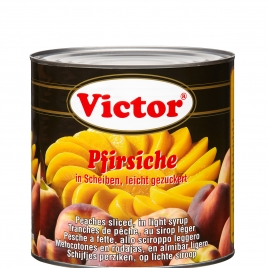 Peaches in cans – slices in light syrup