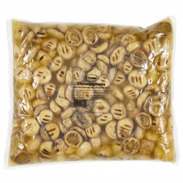 Mushrooms in PE Bags – grilled without stem 40-55mm pasteurized