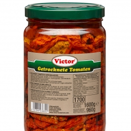 Dried Tomatoes in sunflower oil, jar